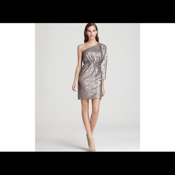 Silver One Shoulder Dresses